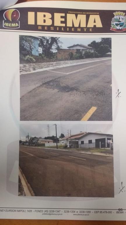 Ibema notifica empresa a refazer trecho de asfalto