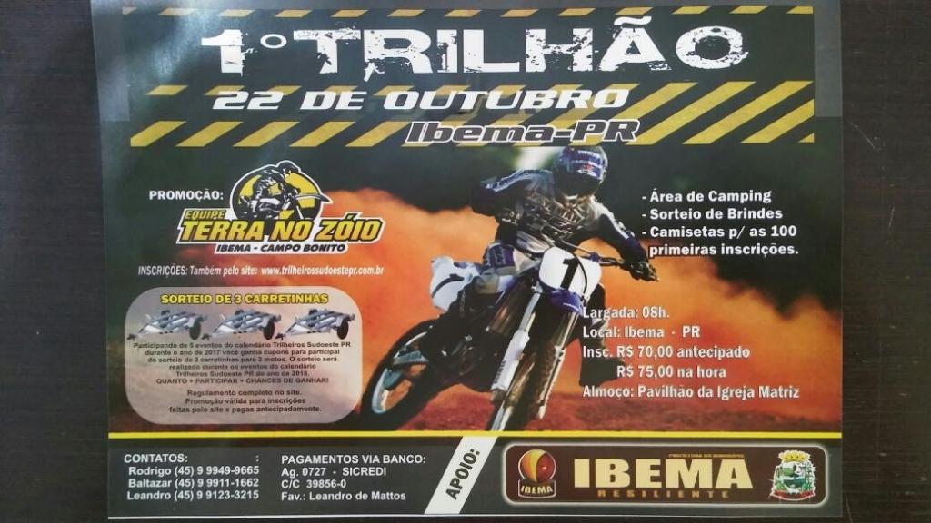Trilhão de motocross mobiliza microrregião de Ibema