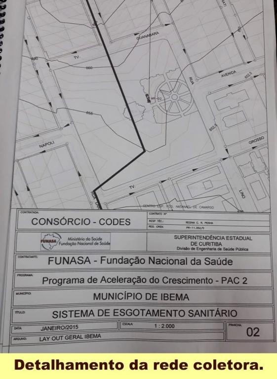 Ibema recebe da Funasa projeto aprovado para obras de esgoto sanitário