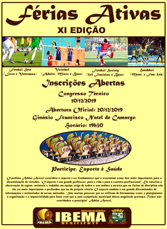 Ibema inscreve atletas para o Férias Ativas