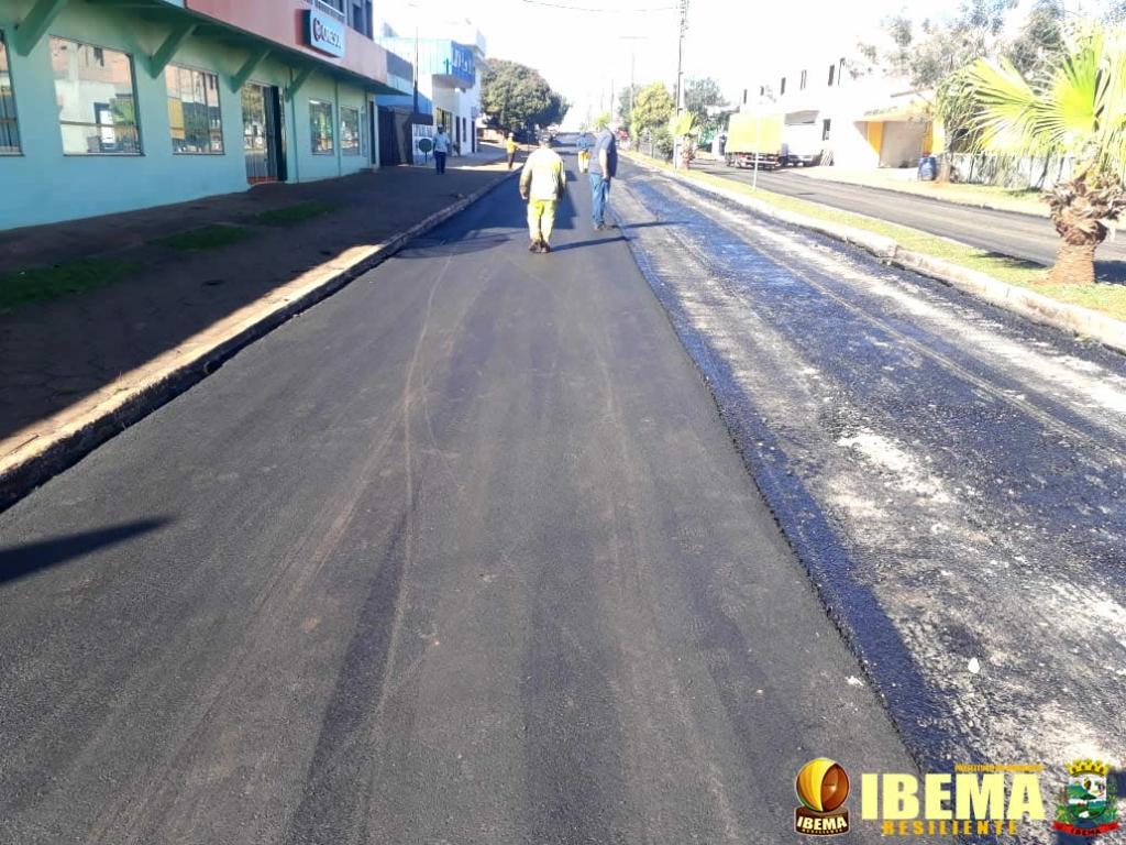 Obras de recape e revitalização da rua Maringá estão em ritmo acelerado em Ibema